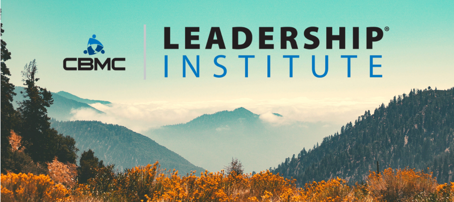 Leadership Institute logo over fall landscape