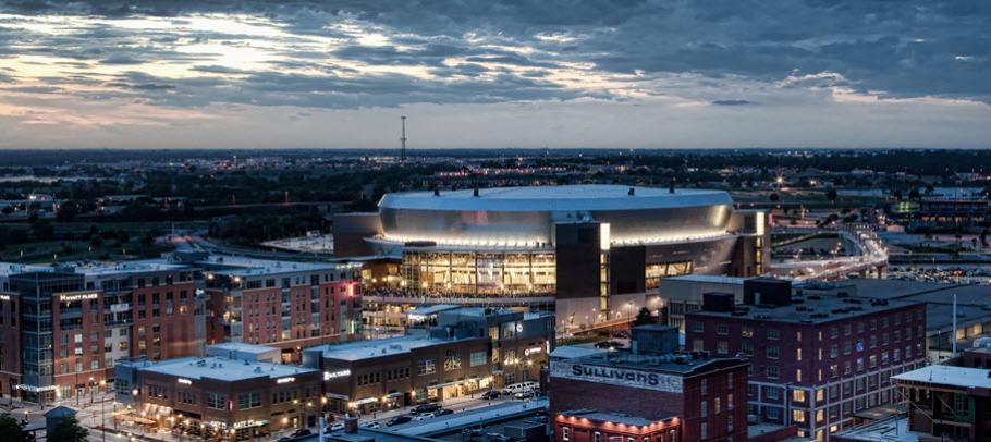 Lincoln Skyline Arena at Dusk