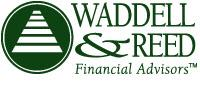 green and white company logo for Waddell and Reed Financial Advisors